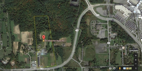 Aerial: 39 Plush Commercial Acres, For Sale, 1 Mile West of Albany International Airport
